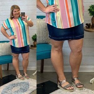 More Like You Plus Denim Skirt