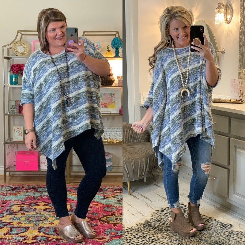 Going Out for Coffee Striped Tunic