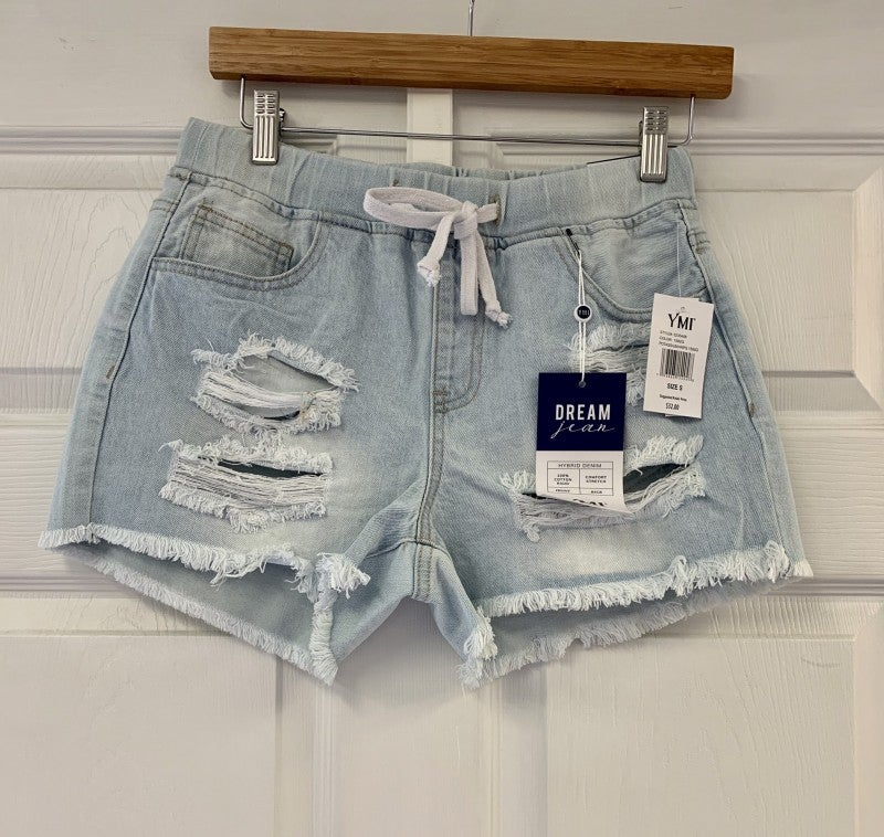 Move On Over Shorts Light Denim