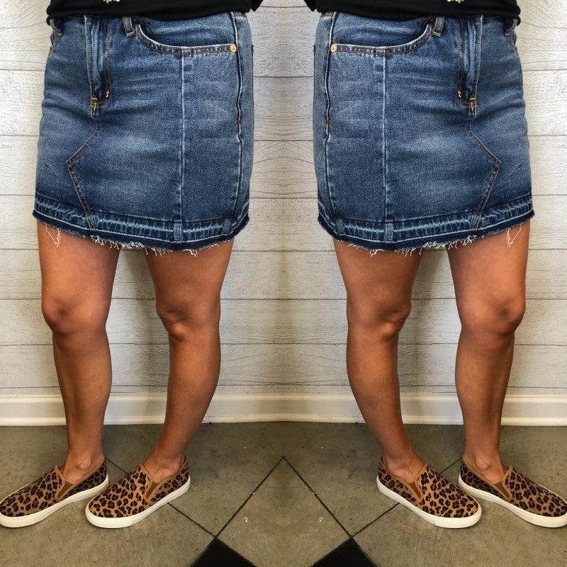 Move A Little Denim Skirt