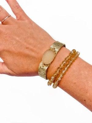 Simple Radiance Druzy Bracelet Set