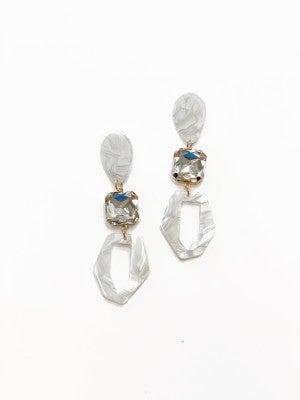 The Fenleigh Earrings White