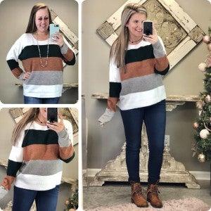 Crush On You Stripe Sweater
