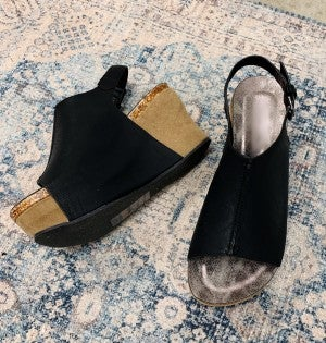 Christina Wedge Black *Final Sale*