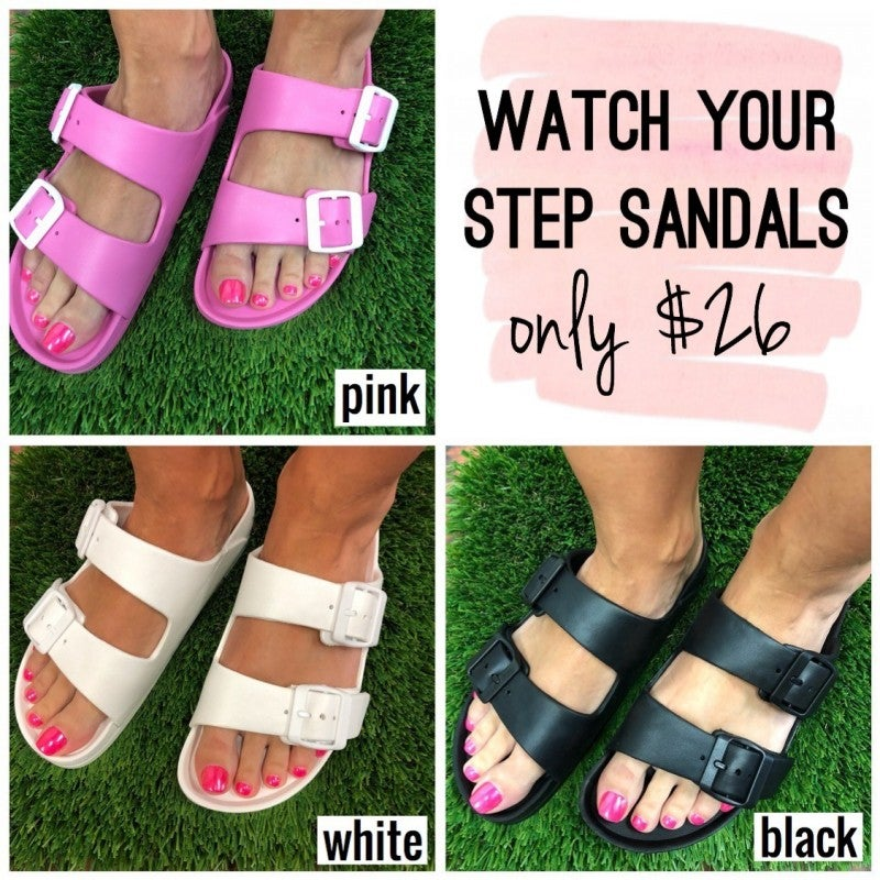 Watch Your Step Sandals