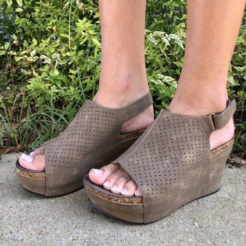 Wild Ways Wedge Taupe