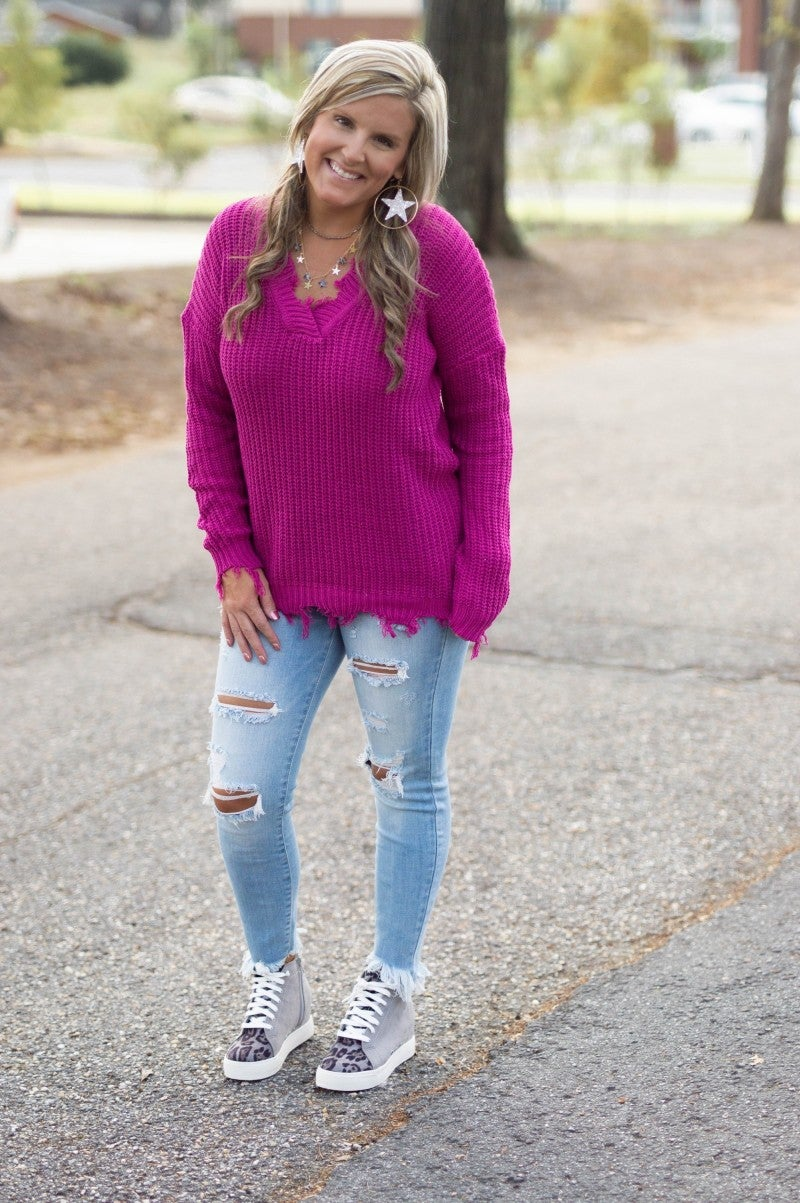 - Pretty In Pink Sweater