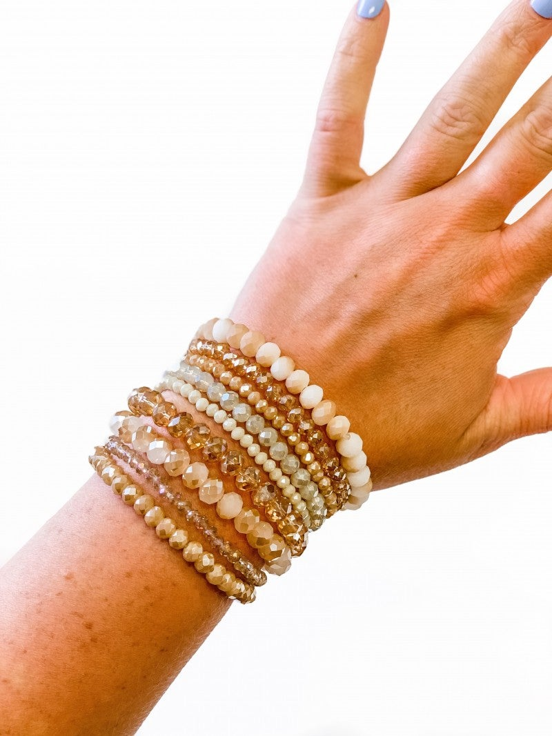 The Rita Bracelet Stack Nude