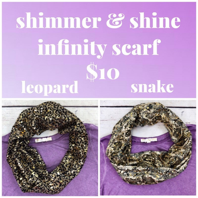Shimmer & Shine Infinity Scarf FINAL SALE