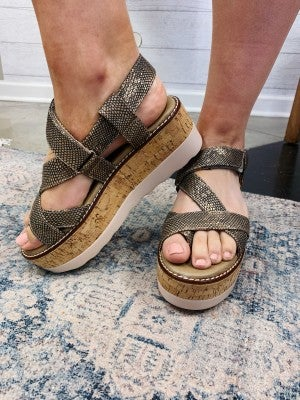 The Stacey Wedge Gunmetal