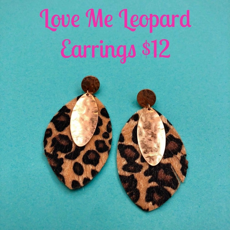 Love Me Leopard Earrings