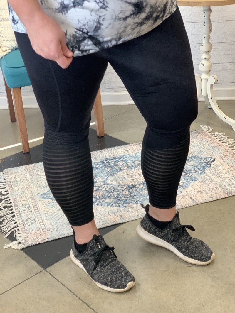 Always On The Edge Athletic Leggings