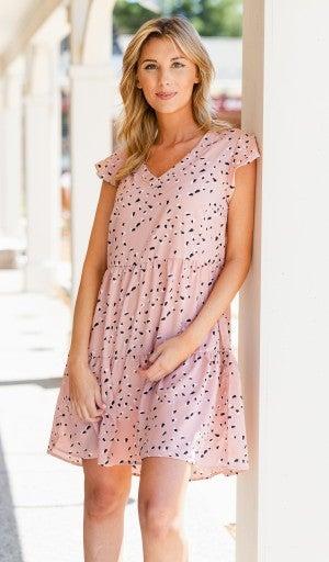Olivia Babydoll Swing Dress, Blush