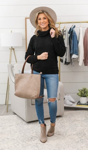 Perfect Touch Sweater, Black