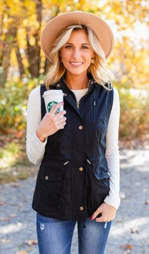 Chilly Temps Vest, Black