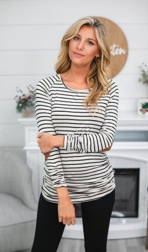 Hailey Striped Tunic, Ivory