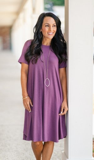 Must-have Summer Dress, Plum
