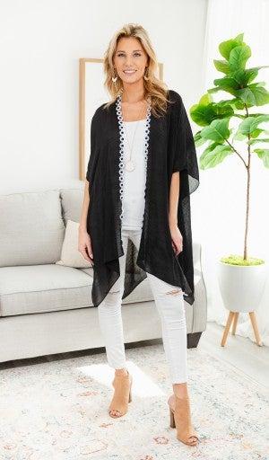 Daisy Dot Kimono, Black