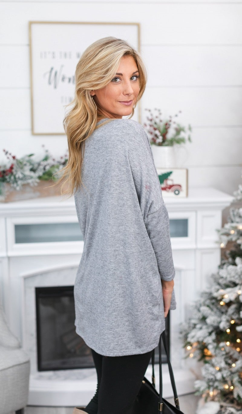 Black Friday! All Day Comfort Tunic, Oatmeal or Grey