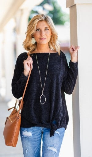 Dreaming of Chenille Top, Black