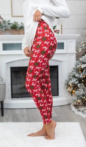 Festive Holiday Leggings, TWO Prints