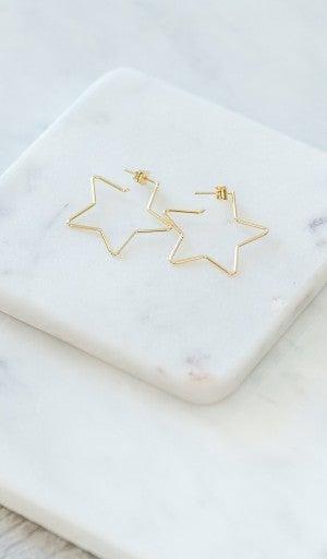 Star Light Earrings, Gold