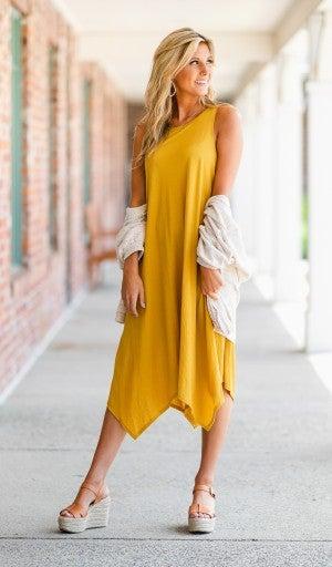 The Langston Dress, Mustard