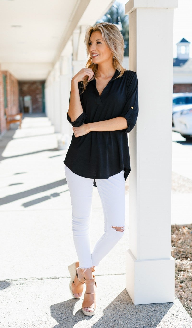 The Nora Blouse, Black