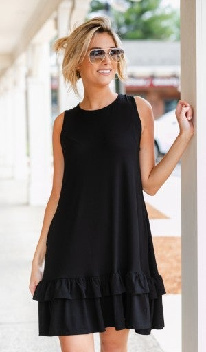 Calling Your Name Dress, Black