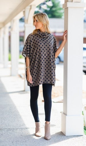 Feels Like Fall Polka Dot Top/Tunic