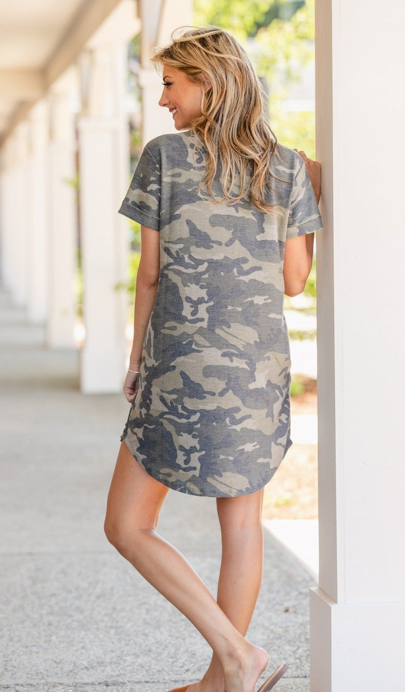 Camo Casual Dress