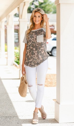 The Best Of Both Worlds Top, Camo