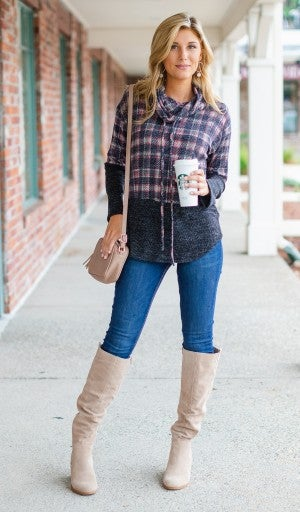 Any Occasion Pullover, Plaid