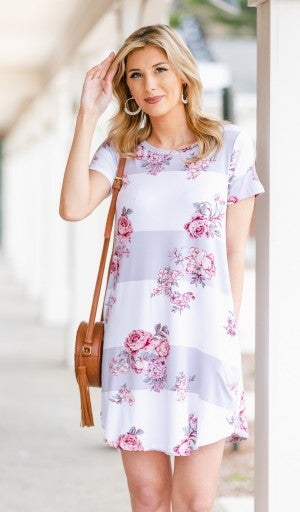 It's A Colorful Life Dress, Grey