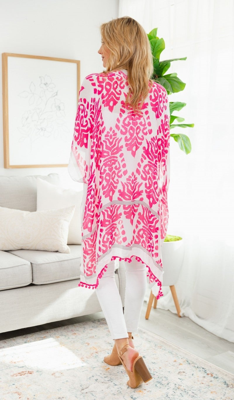 All Day Chic Kimono, Pink