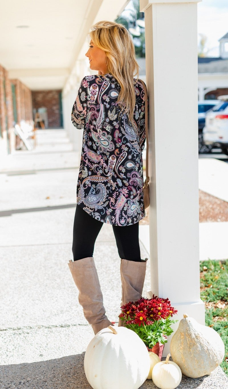 Just Another Day Tunic, Paisley Print