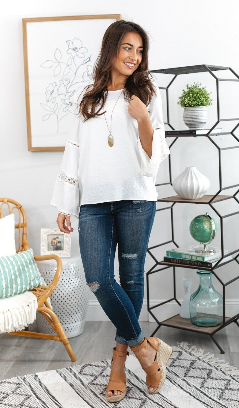 Love The Romance Top, Ivory