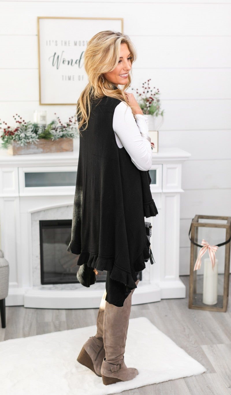Fall Into You Vest, Black