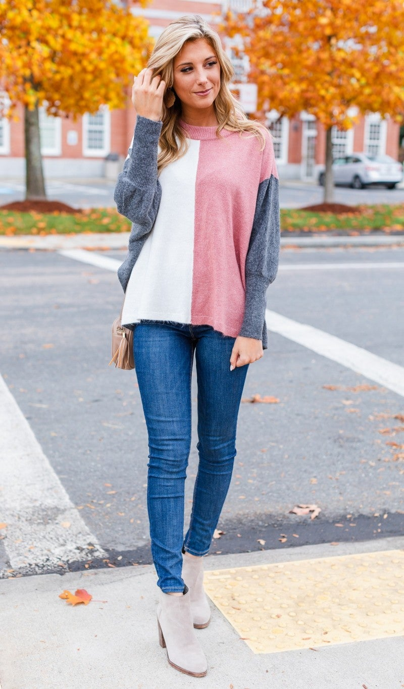 Such A Charmer Colorblock Sweater