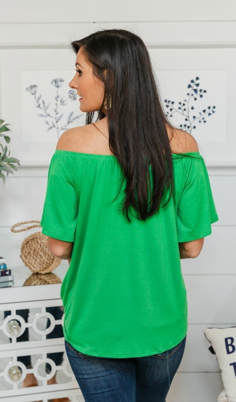 Seize The Day On/Off The Shoulder Top