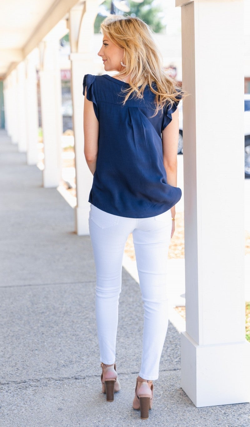 Dreamers Paradise Top, Navy