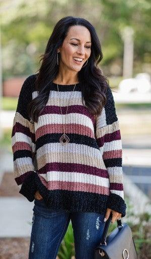 World Of Color Sweater, Mauve