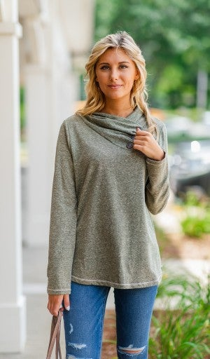 The Hailey Pullover, Olive