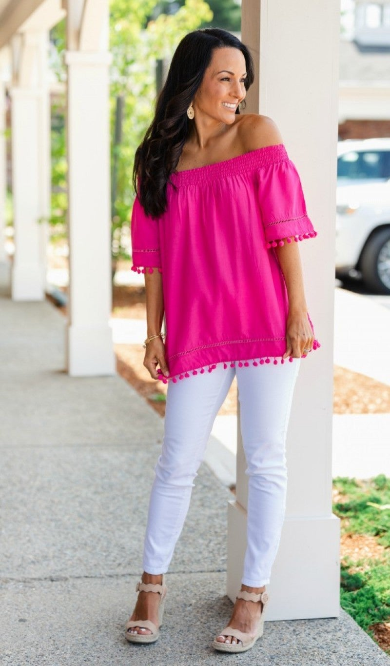 Never Boring Top, Hot Pink