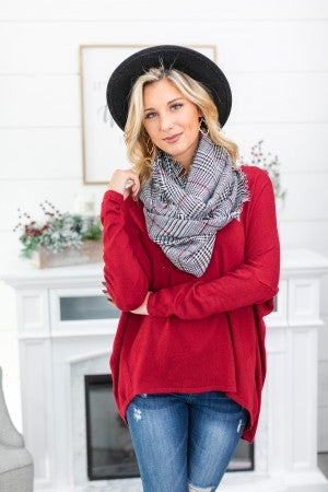 Effortlessly Chic Infinity Scarf, Houndstooth