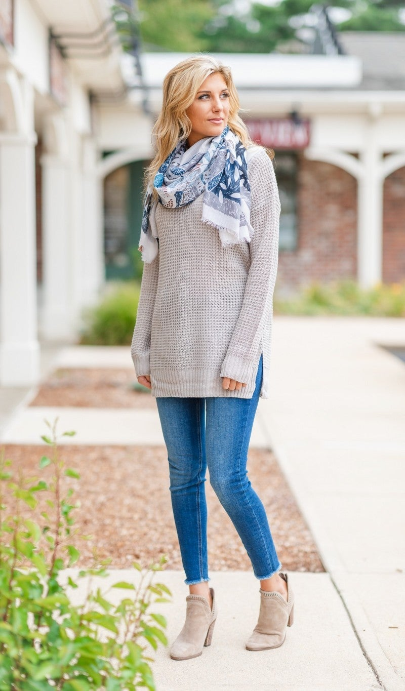 Ainsley Scarf, Blue Tones