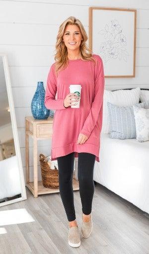 The Merci Tunic, Pink or Heather Grey