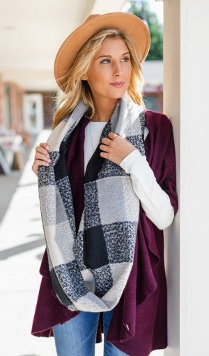 Anytime of Day Scarf, Black