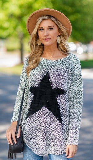 Catch A Falling Star Sweater, Black