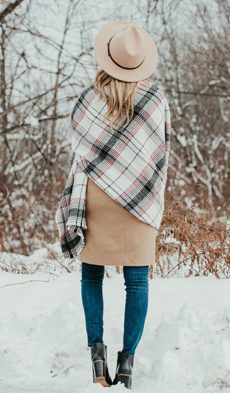 On The Road Plaid Blanket Scarf *Final Sale*